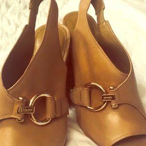 New Coach heel sandals size 10